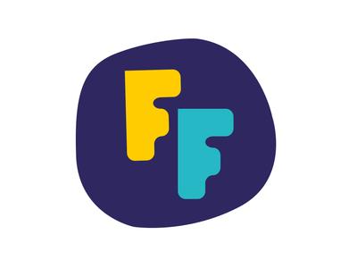 Fizjo Figle Avatar young kids f hand crafted handmade font irregular spine ff maszkowski logo