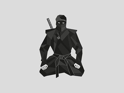 Ninja packaging design graficzny vector maszkowski illustration illustrator black fighter origami ninja