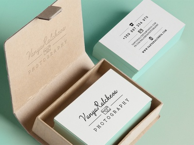 Logo for Vanya Ralcheva Photography print logo logo design brand typography business card