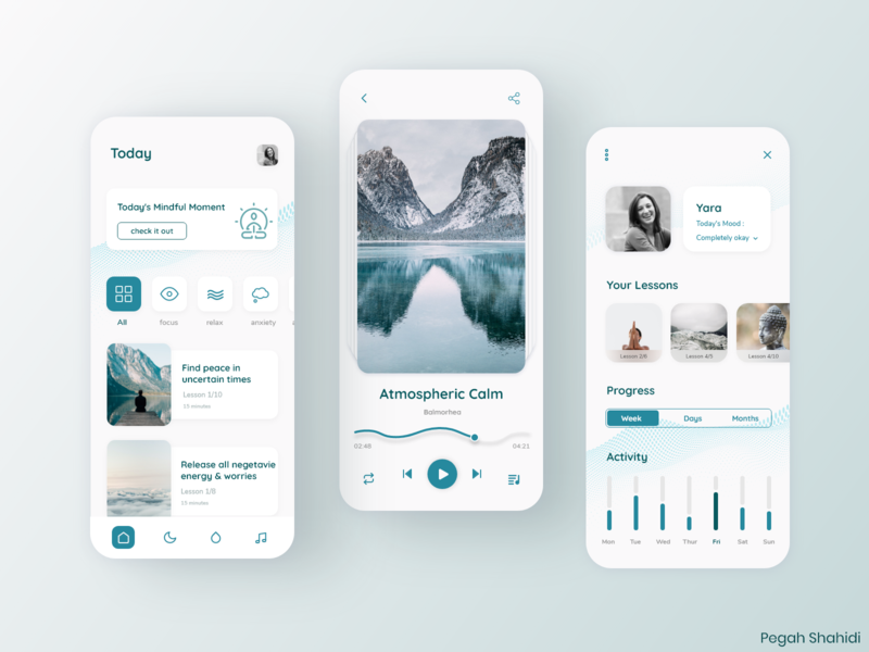 Meditation Application meditation design ui uidesign designchallenge designwich