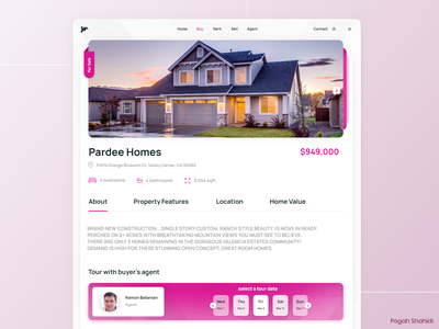 Real Estate Platform design real estate ui webdesign uidesign designwich designchallenge