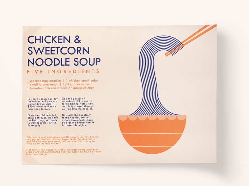 Chicken & Sweetcorn Noodle Soup Recipe Card