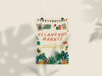 Poster Design for Veganuary Market