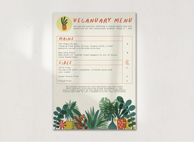 Vegan Menu for The Wardrobe, Leeds