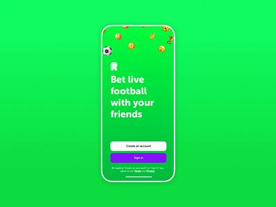 Ranking app Intro football intro product design ux ui mobile app