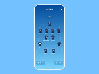 Scorers Bet - Ranking app bet scorers football ui product design mobile app