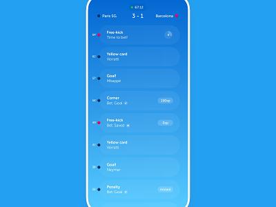 Live Timeline - Ranking app app mobile product design ui football ux app design timeline bet
