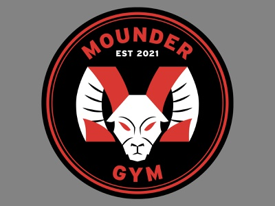 Mounder Gym big horn sheep design logo