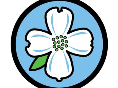 Dogwood Bloom branding band logo vector flower