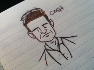 Cash johnny cash sketch thumbnail project start