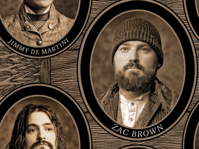 "Zac Brown Band - Uncaged ""Founding Fathers"" Panel cd album packaging music album packaging zac brown band"