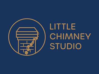 Little Chimney Studio logo illustration icon lineart monoline logodesign logo