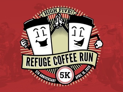 Refuge Coffee Run Illustration/Design t-shirt design t-shirt design logo illustration