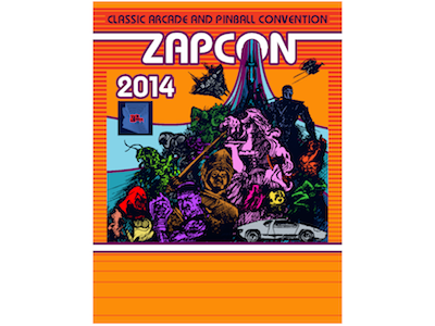Zapcon Flyer Games Characters