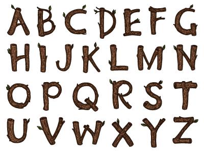Wood Alphabet Capitals