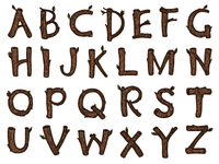 Wood Alphabet Capitals