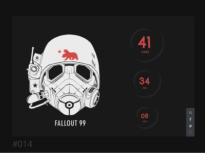 challenge 014 fallout timer challenge014 gameui uidesign dailyui daily 100 challenge