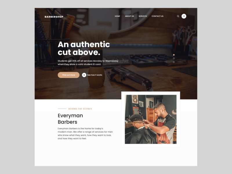 Web Design -Barber shop