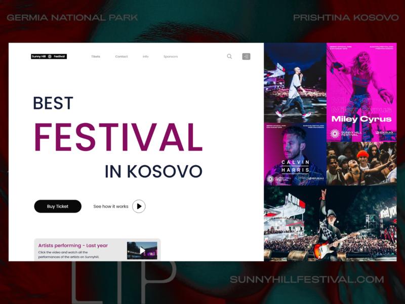 SunnyHill Festival-Web Design love designer branding concept logo design art concert sunnyhill ux ui website web design