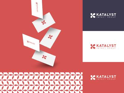 Katalyst Impact Group Branding k logo identity design brand identity pattern color palette business card mockup nonprofit recruitment recruiter logo designer modern logo modern design design modern branding and identity logo design logo identity branding
