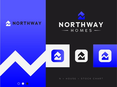 Northway Homes simple logo abstract identity design idenity visual identity brand guide simple architecture house home logo designer design modern logo modern design modern branding and identity identity logo design logo branding