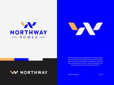 Northway abstract simple symbol mark brandmark identity design monogram minimal modernism lockup logo designer design modern logo modern design modern branding and identity identity logo design logo branding
