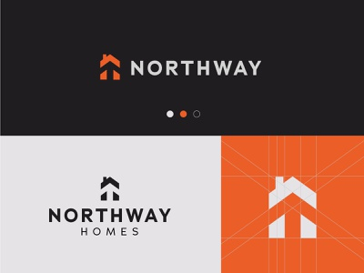Northway simple design logo grid grid minimal modernism real estate real estate logo architecture logo house logo home logo designer design modern logo modern design modern branding and identity identity logo design logo branding
