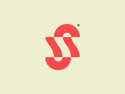 Letter S flat simple abstract logo monogram modernism minimal experiment exploration abstract design modern logo modern design modern branding and identity identity logo design logo branding lettermark letter