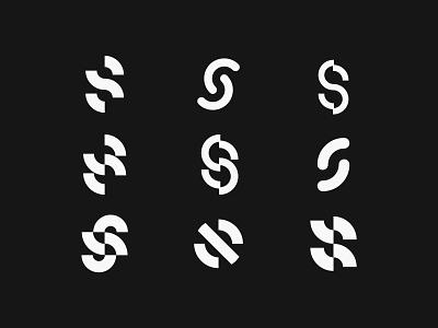 Letter S Explorations logofolio collection modernism simple logo simple lettermark letter exercise experiment exploration logo designer design modern logo modern design modern branding and identity identity logo design logo branding
