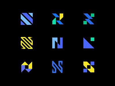 Letter N Exploration lettermark smart design minimal experiment exploration colorful trendy logo trendy simple logo simple logo designer design modern logo modern design modern branding and identity identity logo design logo branding