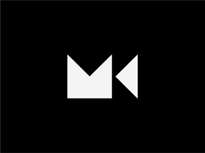 M + K + Camera simple logo abstract black and white letter logo lettermark combination mark monogram minimalist minimal simple logo designer design modern logo modern design modern branding and identity identity logo design logo branding