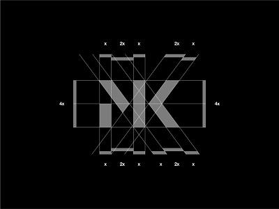 MK Monogram Grid minimal modernism abstract simple monogram logo monogram logos grid layout grid logo grid design modern logo identity design modern design modern branding and identity identity logo design logo branding