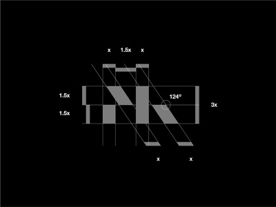 MK Monogram Grid concept unused concept unused logo photographer photography logo mark modernism grid layout grid logo grid design vector modern logo modern design modern branding and identity identity logo design logo branding