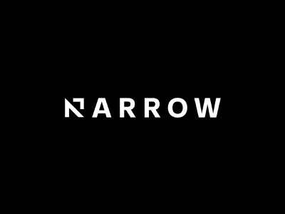 Narrow black and white clean simple minimalism minimalist minimal modernism logotype wordmark logo wordmark logo designer design modern design modern logo modern branding and identity identity logo design logo branding