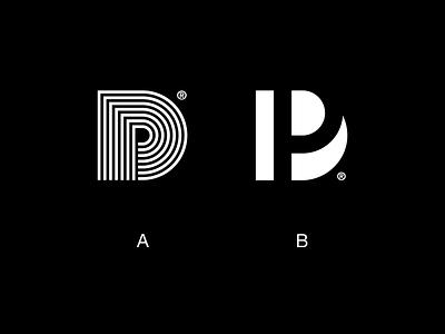 PD Logos graphic design minimal clean visual line simple monogram icon mark symbol logo mark logomark design modern logo branding and identity modern identity branding logo design logo