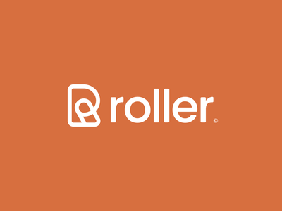 Roller© minimal simple symbol icon app logo r logo letter logo letter r letter monogram graphic design design modern logo orange branding and identity modern logo design identity logo branding