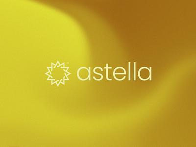 Astella poppins minimal symmetry rotational simple symbol abstract icon graphic design design modern logo background gradient map gradient branding and identity modern logo design identity logo branding