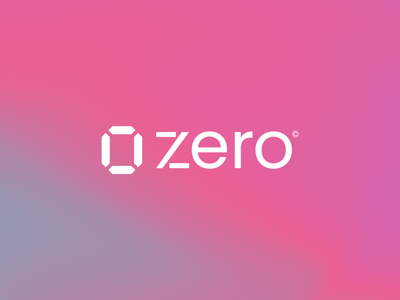 Zero© abstract digital minimal storage cloud graphic design design modern logo modern identity branding logo design logo gradient background nft crypto