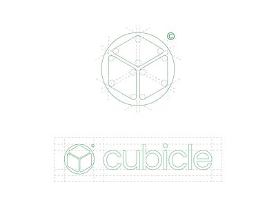 Cubicle Grid symbol logo mark wordmark type font sans serif poppins logotype layout logo grid grid graphic design design modern logo branding and identity logo design modern identity branding logo