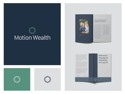Motion Wealth abstract logo graphic designer graphic design freelance minimal simple clean finance b2c collateral print design design modern logo branding and identity logo design modern logo identity branding print