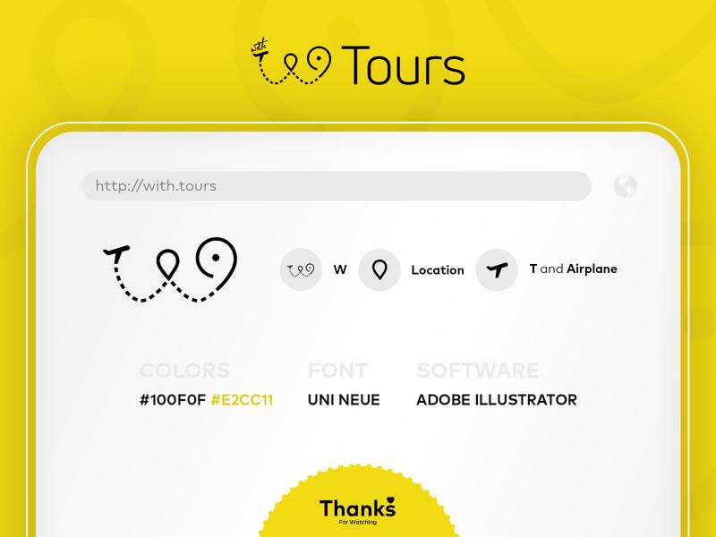 with.Tours art illustrator website minimal illustration icon vector logo branding design