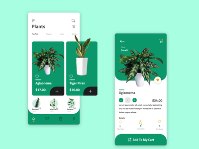 Green vector dashboad app ui ux design