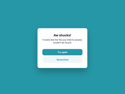 Modal (with stacked buttons) shiftnudge modal color