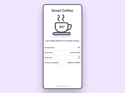 Smart coffee cup exploration