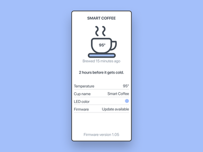 Smart Coffee · One size fits all ios app sf pro display typography ios coffee