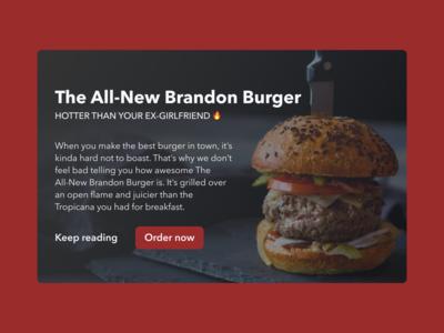 The All-New Brandon Burger
