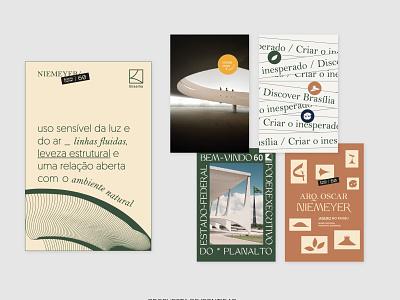 Brasília City Branding - Postcards curves burle marx poster art oscar niemeyer illustration graphic design typography exhibition branding city branding poster brasilia design postcards
