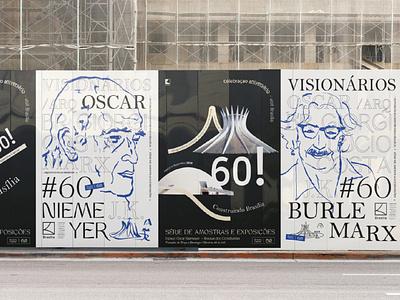 Posters Construindo Brasilia design brasil typography logo graphic design branding city branding exhibition illustration photography exposition brasilia oscar niemeyer burle marx