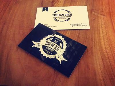Brew Box Business Card business card brand print branding beer card illustrator logo