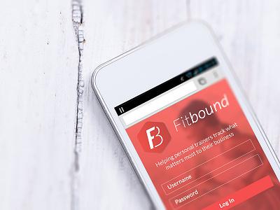 Fitbound Mockup ux ui uxui design interface fitness mobile form user form.